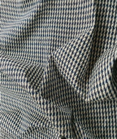 Dogtooth Stretch Wool Blend  - Biege