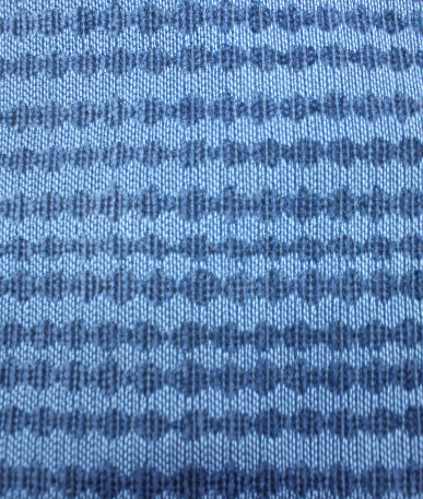 Oval Stripped Upholstery Fabric - Blue