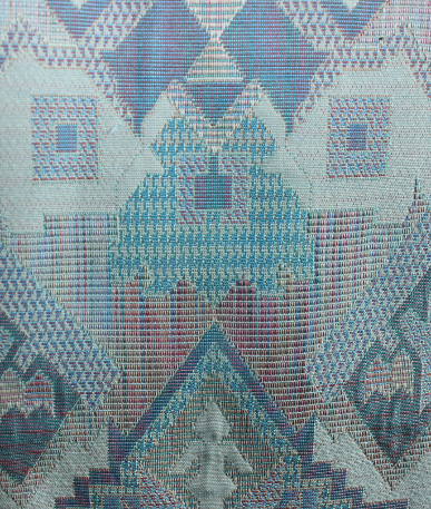 Symmetric Aztec Upholstery Fabric - Multi Coloured