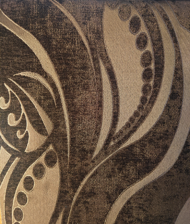 Zest Pattern Upholstery Collection - Fire Retardant - Chocolate