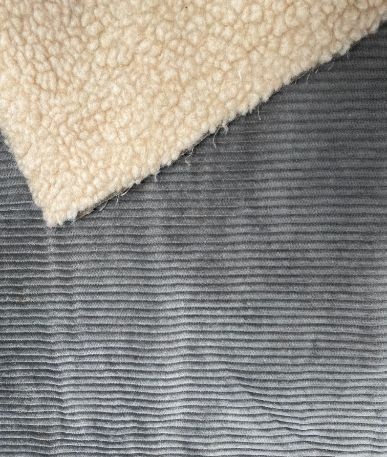 Bonded Fleece Corduroy - Grey
