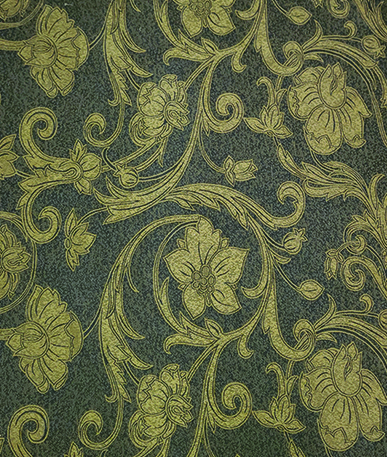 Hansen Antique Floral Upholstery Fabric - Antique Gold
