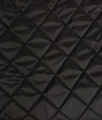 Quilted 4oz Waterproof Fabric Large Box Design - Black
