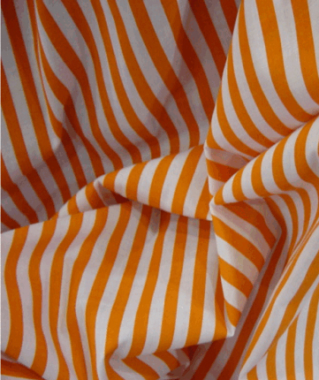 Poly Cotton 1 cm Stripe - Orange