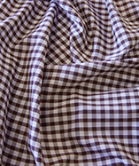 Gingham Check Quarter Inch check - Brown