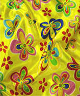 Multi Coloured Satin Flowers - Yellow