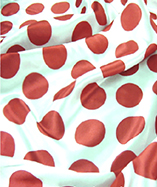 Novelty Satin Prints - Red Spot (70mm)