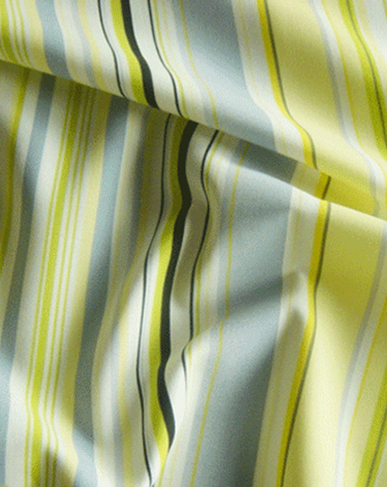 Bright Stripe Cotton Fabric - Lemon