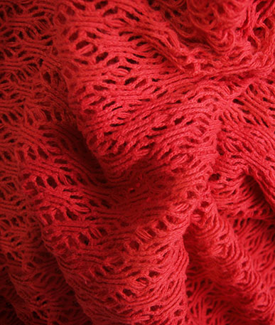 Cotton Whale Netting - Red