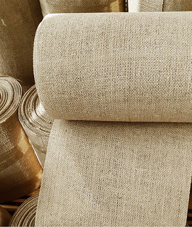 Pelmet Buckram Hessian 30cm - Natural