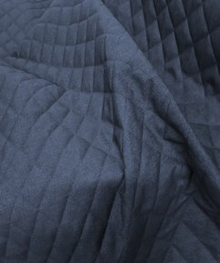 12oz Denim Fabric Quilted - Denim Blue