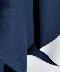 Reversible Stretch Spacer Fabric - Navy / White