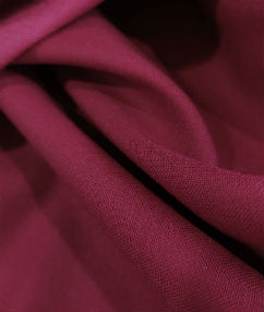 Wool Blend Panama Fabric - Burgundy