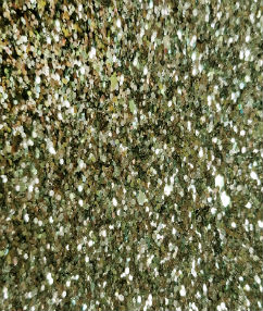 Green/Gold Mix Display Glitter Fabric - Green/Gold