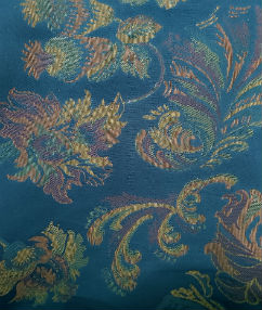 Navy Floral Soft Feel Upholstery Fabric - French Navy