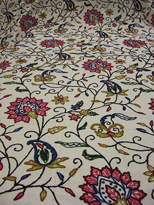 Crewel Fabric Throws 100% Wollen Embroidery